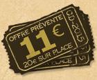 BILLET 1 JOUR = 11 € au lieu de 20 € BILLET 2 JOURS = 16 € au lieu de 30 €  Alors n'attendez plus, car il va faire beau !